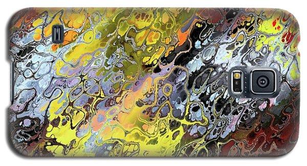 Chaos Abstraction Orange Galaxy S5 Case