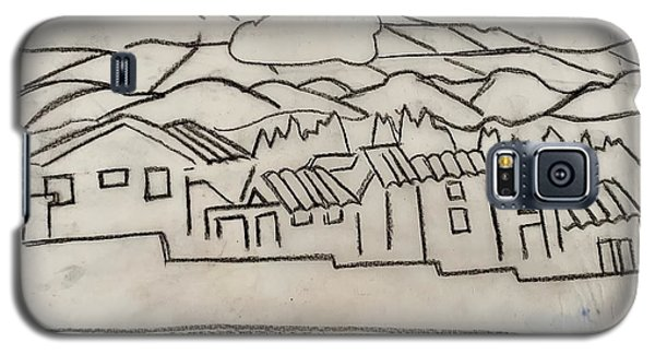 Charcoal Houses Sketch Galaxy S5 Case