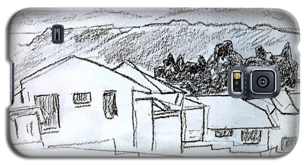 Charcoal Pencil Houses.jpg Galaxy S5 Case