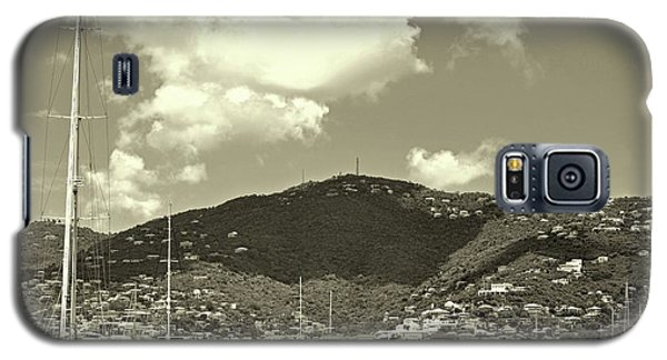 Charlotte Amalie Harbor In Sepia Galaxy S5 Case