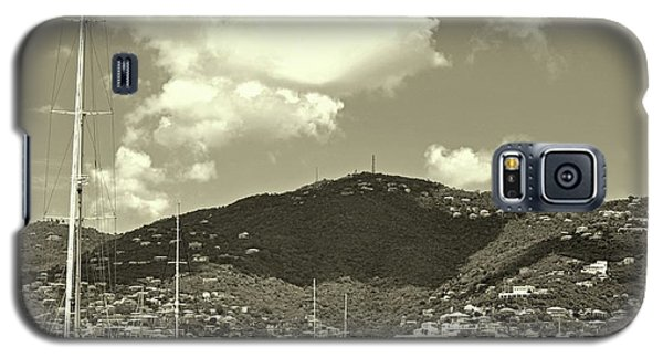 Charlotte Amalie Harbor In Sepia Galaxy S5 Case
