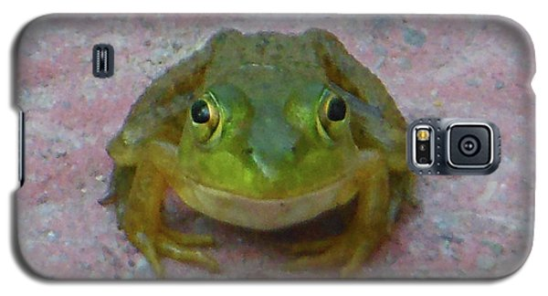 Galaxy S5 Case featuring the photograph Charming American Bullfrog by Rockin Docks