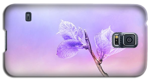 Charming Baby Leaves In Purple Galaxy S5 Case