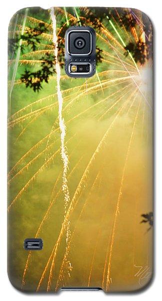 Yellow Fireworks Galaxy S5 Case