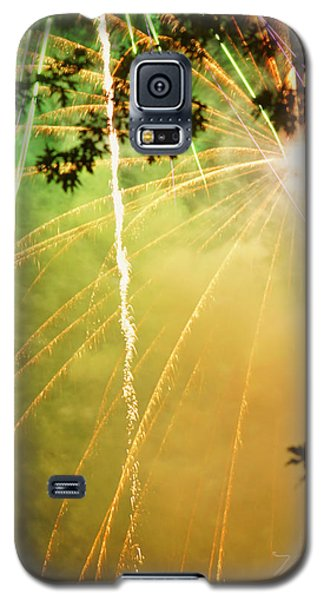 Yellow Fireworks Galaxy S5 Case