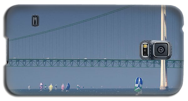 Chicago To Mackinac Yacht Race Sailboats With Mackinac Bridge Galaxy S5 Case
