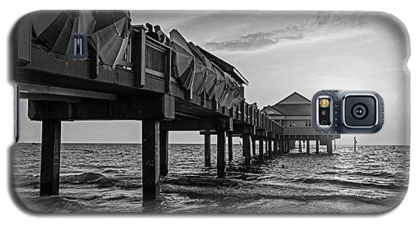 Clearwater Florida Sunset At The Pier Fl Black And White Galaxy S5 Case