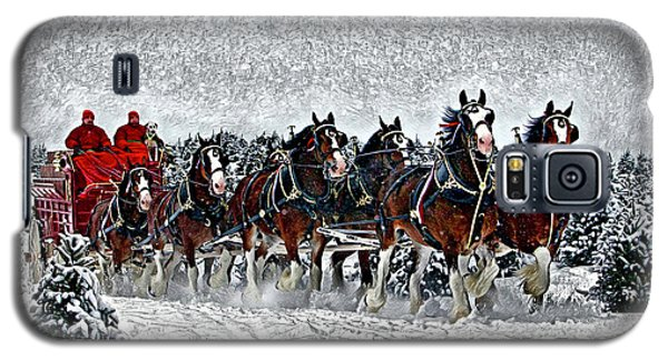 Clydesdales Hitch In Snow Galaxy S5 Case