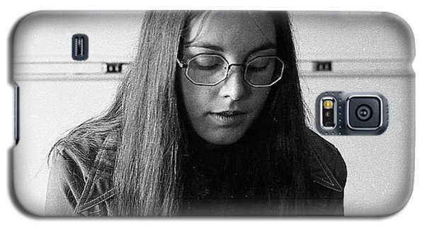 College Student With Octagonal Eyeglasses, 1972 Galaxy S5 Case
