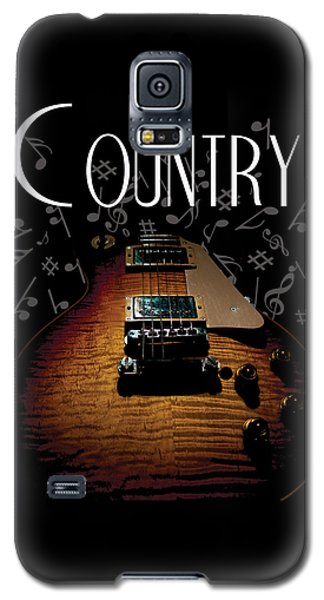 Color Country Music Guitar Notes Galaxy S5 Case