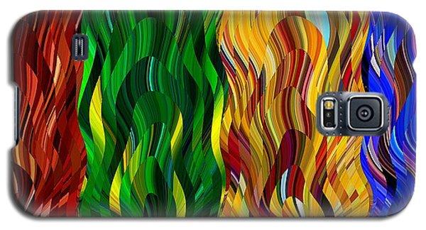Colored Fire Galaxy S5 Case