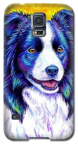 Colorful Border Collie Dog Galaxy S5 Case
