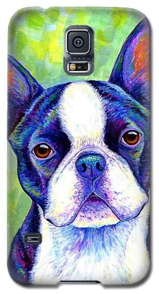 Colorful Boston Terrier Dog Galaxy S5 Case