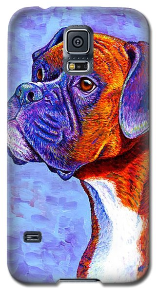 Colorful Brindle Boxer Dog Galaxy S5 Case