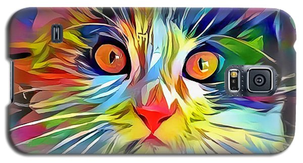 Colorful Calico Cat Galaxy S5 Case
