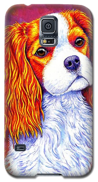 Colorful Cavalier King Charles Spaniel Dog Galaxy S5 Case