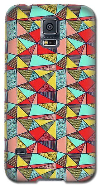 Colorful Geometric Abstract Pattern Galaxy S5 Case