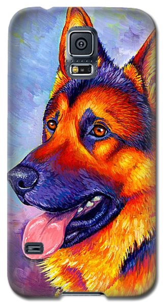 Colorful German Shepherd Dog Galaxy S5 Case