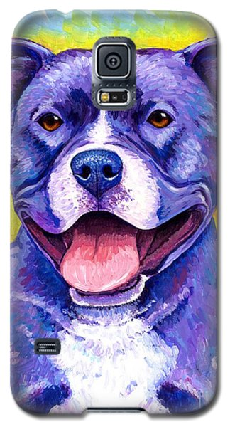 Colorful Pitbull Terrier Dog Galaxy S5 Case