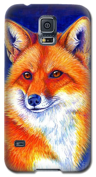 Colorful Red Fox Galaxy S5 Case