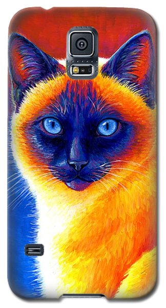 Jewel Of The Orient - Colorful Siamese Cat Galaxy S5 Case