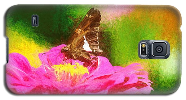 Colorful Silver Spotted Skipper Butterfly Galaxy S5 Case