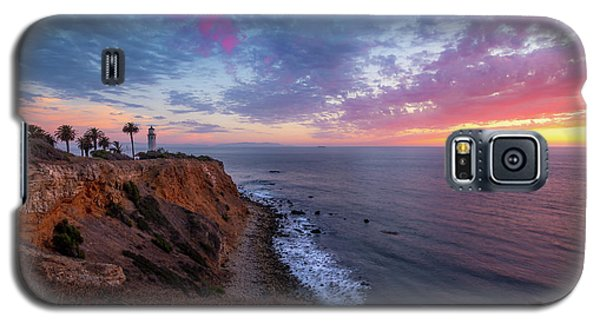 Colorful Sky After Sunset At Point Vicente Lighthouse Galaxy S5 Case
