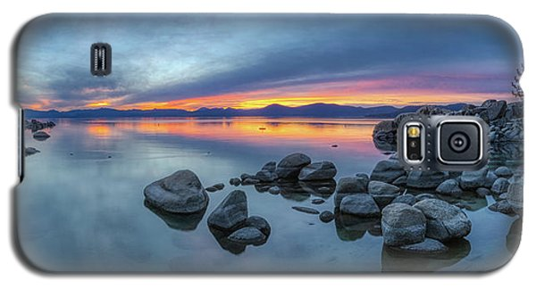 Colorful Sunset At Sand Harbor Panorama Galaxy S5 Case
