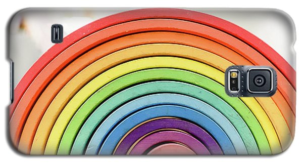 Colorful Waldorf Wooden Rainbow In A Montessori Teaching Pedagogy Classroom. Galaxy S5 Case
