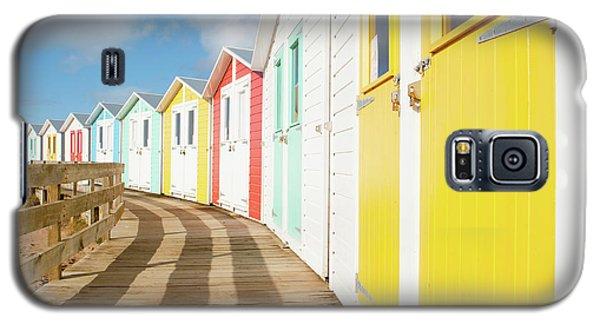 Colourful Bude Beach Huts Galaxy S5 Case