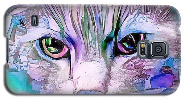 Cool Blue Cat Galaxy S5 Case