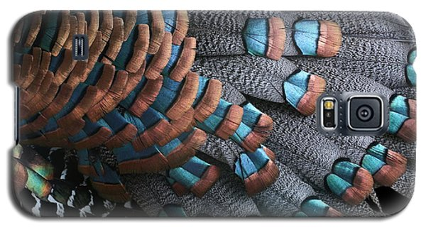 Copper-tipped Ocellated Turkey Feathers Photograph Galaxy S5 Case