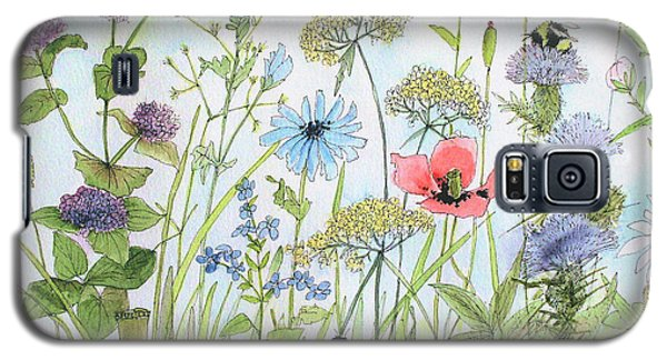 Cottage Flowers And Bees Galaxy S5 Case