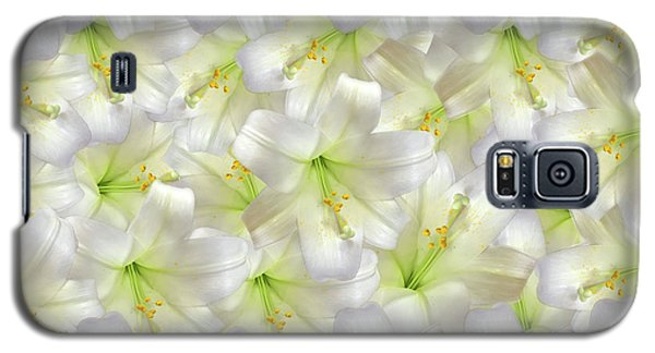 Galaxy S5 Case featuring the photograph Cotton Seed Lilies by Rockin Docks