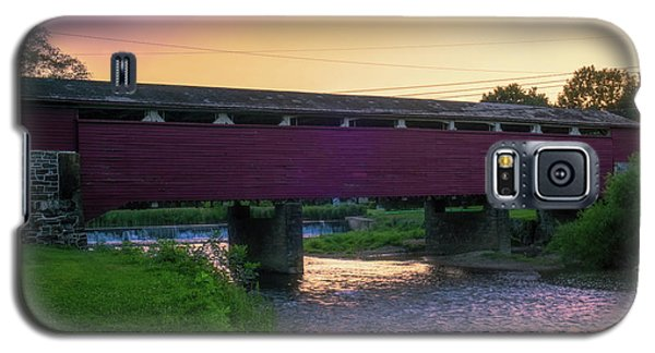 Covered Bridge Sunset Galaxy S5 Case