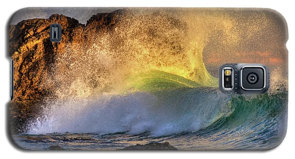Crashing Wave Leo Carrillo Beach Galaxy S5 Case