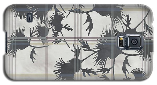 Cream Thistle Plaid Contrast Border Galaxy S5 Case