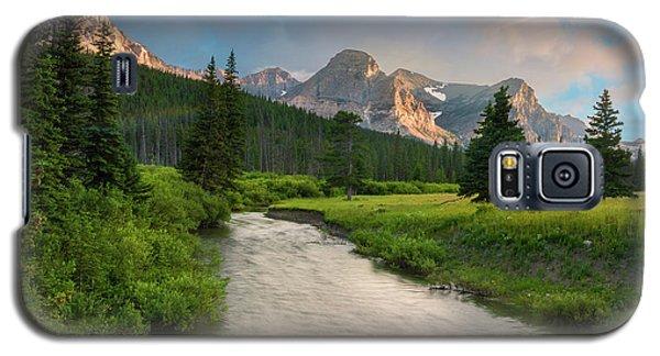 Cut Bank Creek At Sunset Galaxy S5 Case