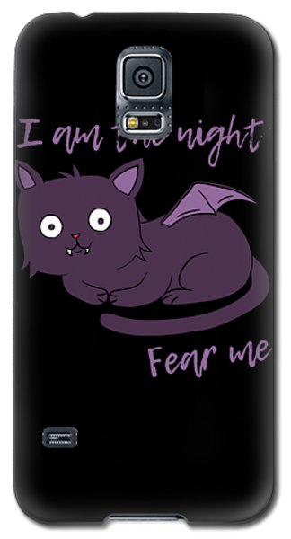 Cute Halloween Cat I Am The Night Fear Me Galaxy S5 Case