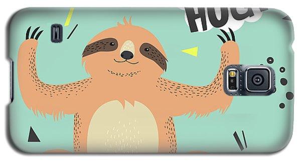 Card Galaxy S5 Case - Cute  Sloth Vector Illustration. Lets by Maria Sem