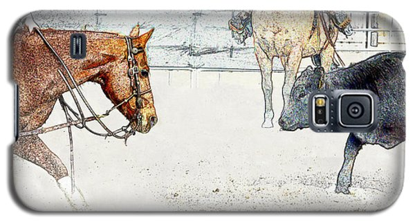 Cutting Horse At Work Galaxy S5 Case