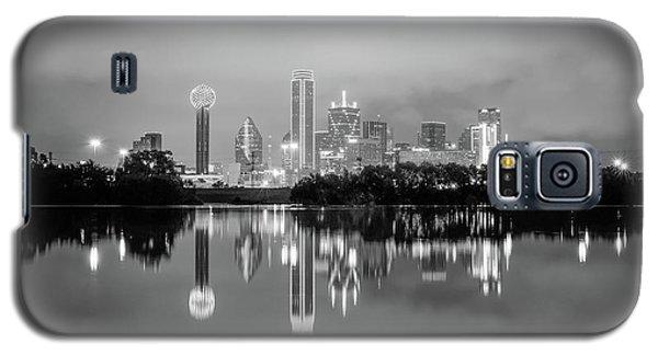Dallas Cityscape Reflections Black And White Galaxy S5 Case