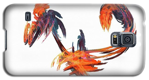 Dance Of The Birds Orange Galaxy S5 Case