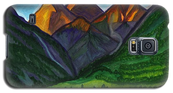 Sunrise In The Mountains Galaxy S5 Case