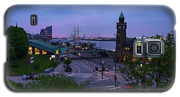 Dawn Over The Port And City Hamburg Panorama Galaxy S5 Case