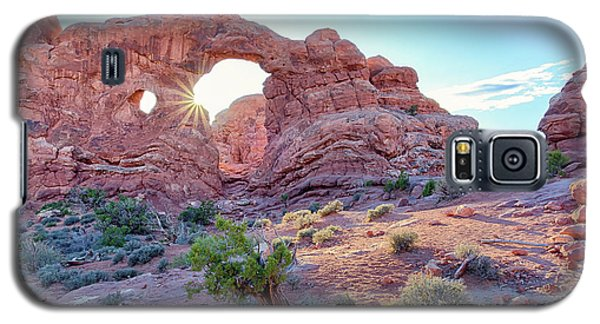 Desert Sunset Arches National Park Galaxy S5 Case
