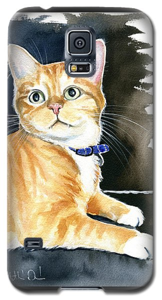 Diego Ginger Tabby Cat Painting Galaxy S5 Case
