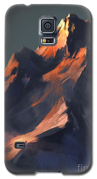 Cold Galaxy S5 Case - Digital Painting Showing Sunset Scene by Tithi Luadthong