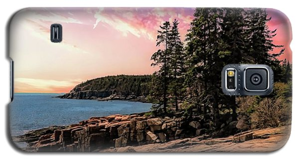 Distant View Of Otter Cliffs,acadia National Park,maine. Galaxy S5 Case