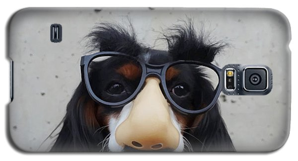 Galaxy S5 Case featuring the digital art Dog Gone Funny by ISAW Company